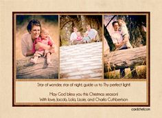 Christian Christmas Photo Card