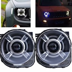 529.28$  Buy now - http://alimqb.worldwells.pw/go.php?t=32783114617 - LED HID Headlight Projector with DRL & Bi-Xenon Lens For 2015 2016 2017 JEEp Renegade xenon Led Light Headlight Headlamp 529.28$