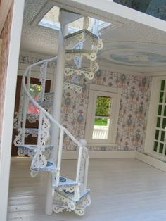 Dollhouses by Robin Carey: The Sea Glass Victorian Cottage Dollhouse