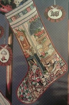 Holiday Study Christmas Stocking Cross Stitch Chart (pattern)