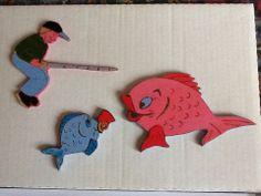 Magnete in legno dipinti a mano