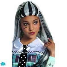 Peluca de Frankie Stein Monster High para niña
