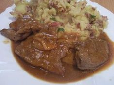 Czech Recipes, Ethnic Recipes, Slovakian Food, Food 52, Stew, Pork, Food And Drink, Cooking Recipes, Homemade