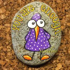 Husk det nu Just a reminder #malpåsten#sten#stenelene#paintedstones#stones#reminder#rockpainting#huskdetnu#bird#fugle#justforfun