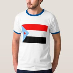 Shop South Yemen Flag T-Shirt created by Vexillophile. South Yemen, Yemen Flag, Ringer Tee, Front Design, Casual Looks, Flags, Colorful Shirts, Kids Outfits, Fitness Models