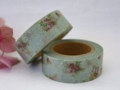 Floral design decorative washi paper masking tape - 1 Roll  Easy to use...tear, stick & write on it Leaves no sticky residue Perfect embellishment