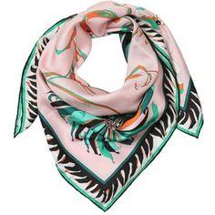 Emilio Pucci Women Cactus Printed Silk Twill Scarf