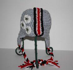 Ohio State Buckeyes Football Helmet Hat - size infant | JenniferByDesign - Crochet on ArtFire