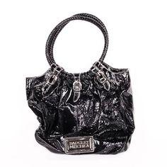 Badgley Mischka Black Patent Leather Large Tote LNWOT EUC  | eBay