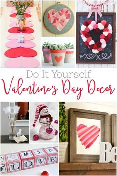 20 DIY Valentine's Day Decor ideas just in time for the holiday. #valentinesday