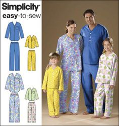 Simplicity download $5.99\  2823 Unisex Child, Teen & Adult Top and Pants