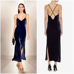 I just discovered this while shopping on Poshmark: Intermix Blue Velvet Slip Dress. Check it out! Price: $129 Size: S, listed by stefanypaige