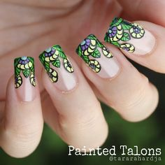"Nail Updates — Tara Rahardja on Instagram: ""Stained glass nails,..."
