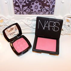 "#dupes Close-Dupe; NYX blush in ""mocha"" $3.99 vs. NARS blush in ""amour"" $28"
