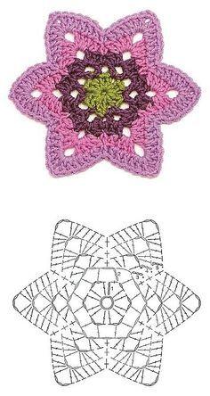 Flower pattern.... would make a cute coaster.