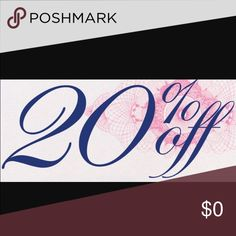 20% off listed price! Everything must go! Closet will be closing in the next few weeks! Other