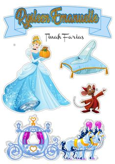 Disney Princess Birthday Party, Paris Birthday Parties, Cinderella Birthday, Cinderella Disney, Diy Cake Topper, Cake Toppers, Frozen Paper Dolls, Diy Photo Booth Props, Disney Characters Costumes