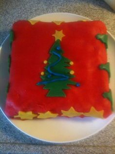 Marsepeintaart voor kerst