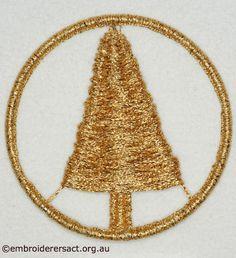 Christmas Dorset Button by Jillian Bath