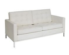 Leather Florence Knoll Sofa 2S