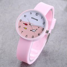 c8514c490 Ulzzang Fashion Children Watches Cute Cartoon Fish Dial Girl Student  Silicone Strap Kids Waterproof Quartz Wrist