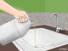 Pour vegetable or olive oil in your kitchen sink. This will catch any gnats that hang around the drain or garbage disposal. The gnats will fly into the oil but will be either unable to free themselves from it, or simply unable to mate afterward, as they are coated in the oil. You may need to repeat this process several times to get all of the gnats, but it is very effective.