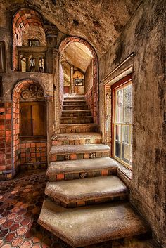 Time for Breakfast Time for Breakfast Fonthill Gallery Stairs to Breakfast Ro karl graf Fl Beautiful Architecture, Beautiful Buildings, Interior Architecture, Beautiful Homes, Beautiful Places, Interior Design, Gothic Interior, Unusual Buildings, Stairs Architecture