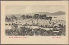 Malay - village Pulau Brani Singapore. From New York Public Library Digital Collections.