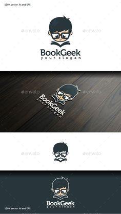 Book Geek Logo Template Vector EPS, AI Illustrator. Download here: https://graphicriver.net/item/book-geek-logo/11339706?ref=ksioks