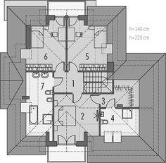Projekt domu Amira G1 153,04 m2 - koszt budowy - EXTRADOM Modern Bungalow Exterior, House Plans, Villa, Floor Plans, House Design, How To Plan, Houses, Garden, Ideas