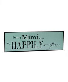 Take a look at this Aqua 'Mimi' Wall Art by Grandparent Gift Company on #zulily today!