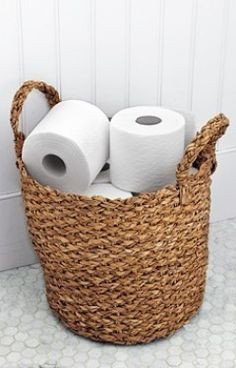Toilet paper basket for our beach theme guest bathroom downstair.