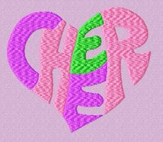 Cheer Heart Embroidery Design by EmbroideryDownloads on Etsy, $1.99