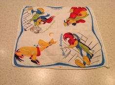 Vintage Ladies Handkerchief Hankies Hanky Woody Woodpecker Disney