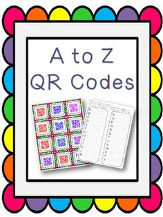 A to Z QR Codes- could link to how to video of cursuve letters