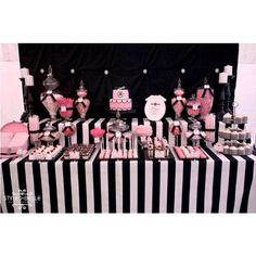 Amazing Lolly/Dessert Buffet by Styled by Belle! This will look awesome with the black white and teal!!