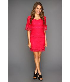 Laundry by Shelli Segal Bell Sleeve Lace Shift Dress Paradise Pink - Zappos.com Free Shipping BOTH Ways