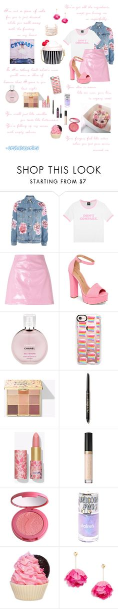 """🍼 Cake 🍼  DELUXE SET"" by enchantingfashions ❤ liked on Polyvore featuring GET LOST, Topshop, Miss Selfridge, Chinese Laundry, Chanel, Casetify, tarte, Kate Spade, Forever 21 and Aurélie Bidermann"