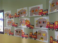 Community helpers: firefighter theme ... The houses are adorable!!!