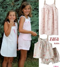 Visteles Zara Kids, Dresses Kids Girl, Kids Outfits, Looks Teen, Childrens Wardrobes, Kids Pajamas, Beautiful Children, Clothing Patterns, Diy Clothes