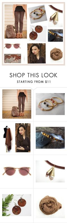 """""""Natural"""" by rosa-shawls ❤ liked on Polyvore featuring Oliver Peoples and vintage"""