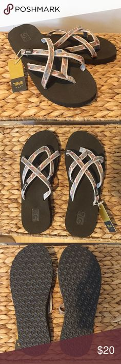 8a8f20d3115a2 Teva Olowahu Waterfall Antique Gold Flip Flops These comfortable