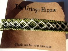 Diamond Woven Friendship Bracelet Diamond Macrame Bracelet by TheGringaHippie on Etsy