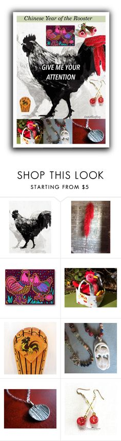 """Rooster"" by sabine-713 ❤ liked on Polyvore featuring Home Decorators Collection"