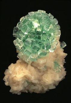 Apophyllite with Stilbite, India