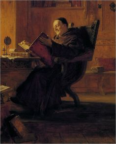 Grutzner_Eduard_A_Monk_in_Their_Library_1891