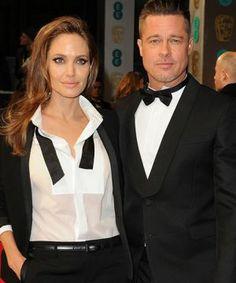 Angelina Jolie & Brad Pitt Stun In Matching Tuxedos At The BAFTAs
