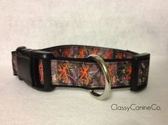 Orange Deer Camo Dog Collar