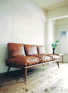 love this leather settee