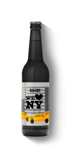 We (heart) NY Yellow cab lager - Evil Twin Brewing
